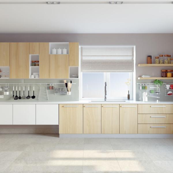 מטבח מעץ עיצוב קלאסי באתר